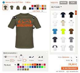 best website e9fb4 4d5ec Shirt-Designer - T-Shirt selbst gestalten